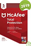 McAfee Total Protection 2019 | 5 Geräte | 1 Jahr | PC/Mac/Smartphone/Tablet | Aktivierungscode per Post