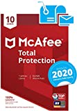 McAfee Total Protection 2020 | 10 Geräte | 1 Jahr | PC/Mac/Smartphone/Tablet | Aktivierungscode per Post