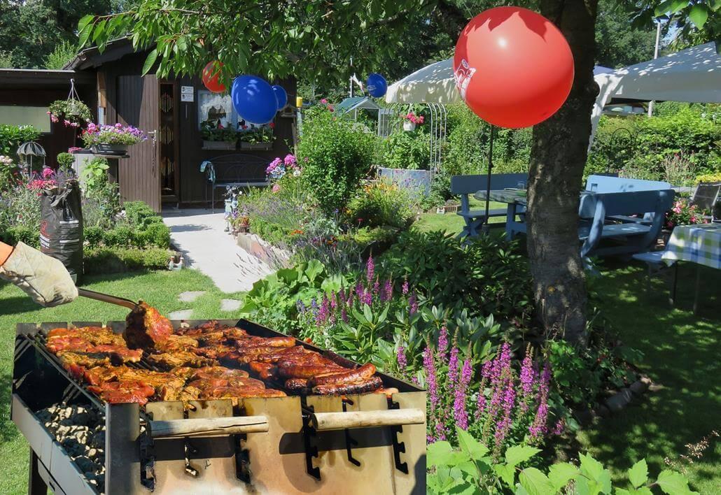 Grill für Gartenparty