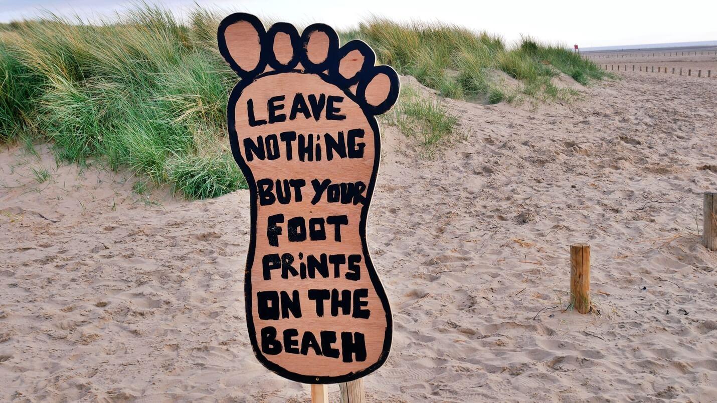 umweltschutz am Strand